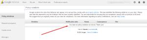 Status  Google AdSense